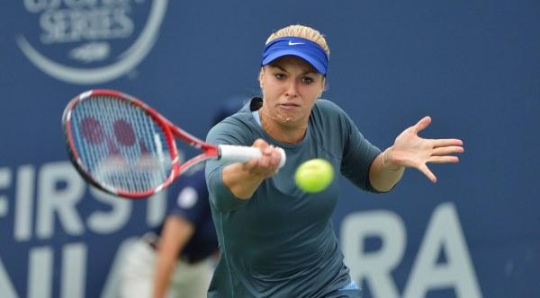 Sabine Lisicki of Germany Defeats Kristina Mladenovic of France.