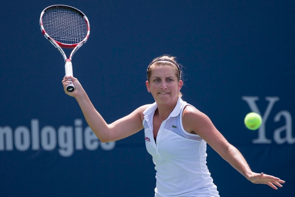 CONNECTICUT OPEN - DAY 2 SATURDAY, AUGUST 16, 2014 YANINA WICKMAYER vs. TIMEA BACSINSZKY
