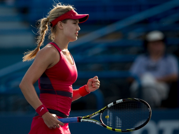 CONNECTICUT OPEN - DAY 4 MONDAY, AUGUST 18, 2014  EUGENIE BOUCHARD vs. BOJANA JOVANOVSKI