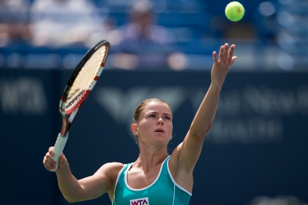 CONNECTICUT OPEN - DAY 3 SUNDAY, AUGUST 17, 2014 CAMILA GIORGI vs. COCO VANDEWEGHE