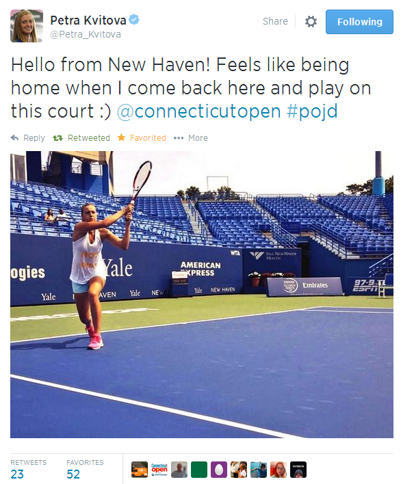 Kvitova Tweet