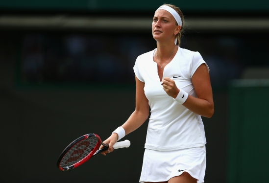 during day four of the Wimbledon Lawn Tennis Championships at the All England Lawn Tennis and Croquet Club on July 2, 2015 in London, England.